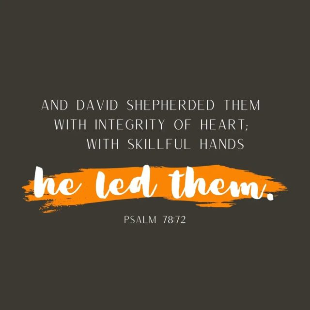When people think of King David, that's what they remember: a king. It can be easy to forget that David spent his youth as a shepherd boy. As the verse says, he led them and watched over them. They were his responsibility.  As Christians, we remember that we are all sheep that are lost, waiting for Christ, our Shepherd, to lead us. In some ways He already has.  What's one way that God has led you in your life?  #lampandlight #biblegram